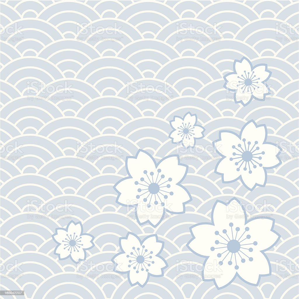flower pattern 6 vector art illustration