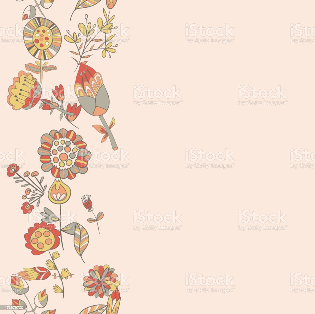 Flower pattern hand-drawn cute doodle vector art illustration