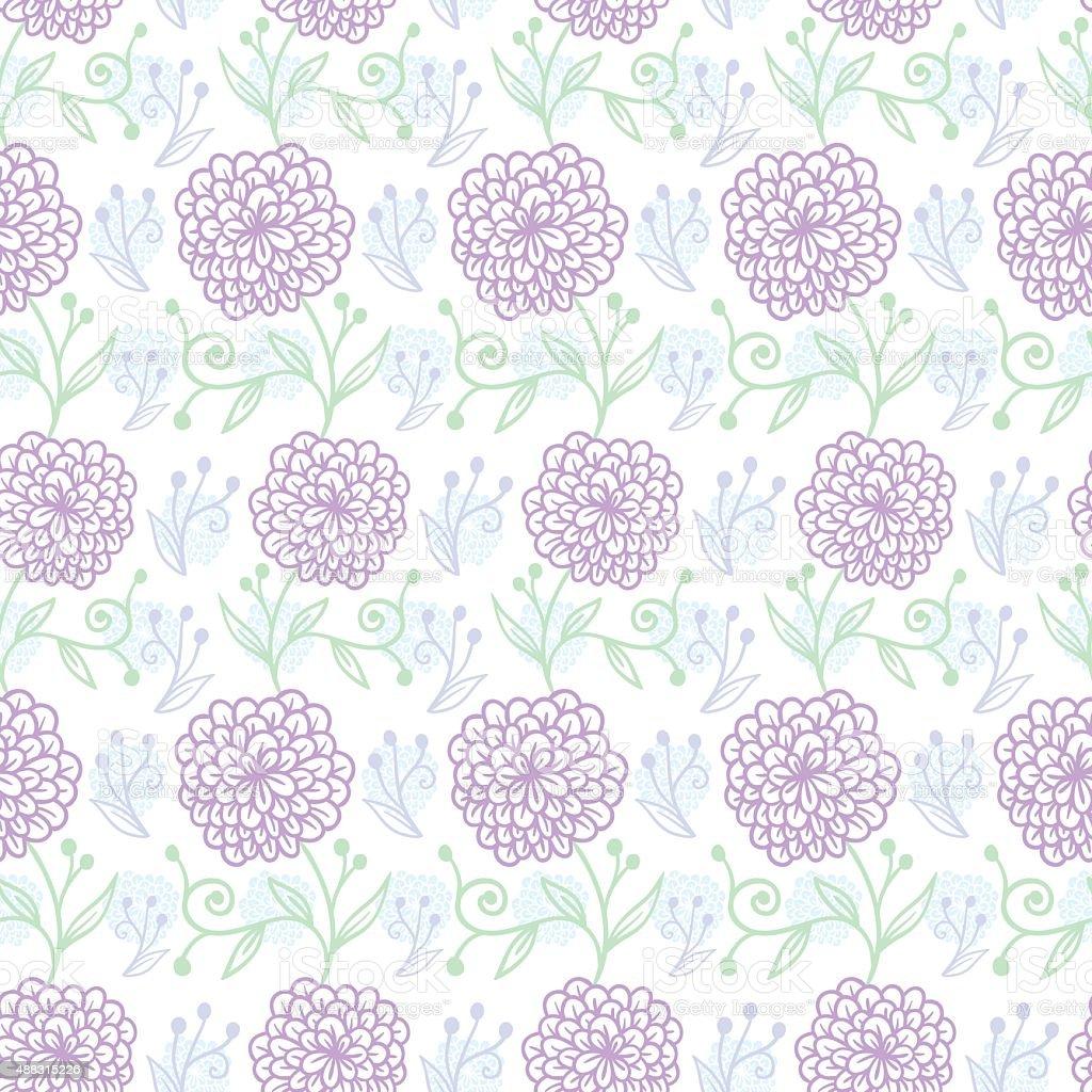 Flower pattern vector art illustration