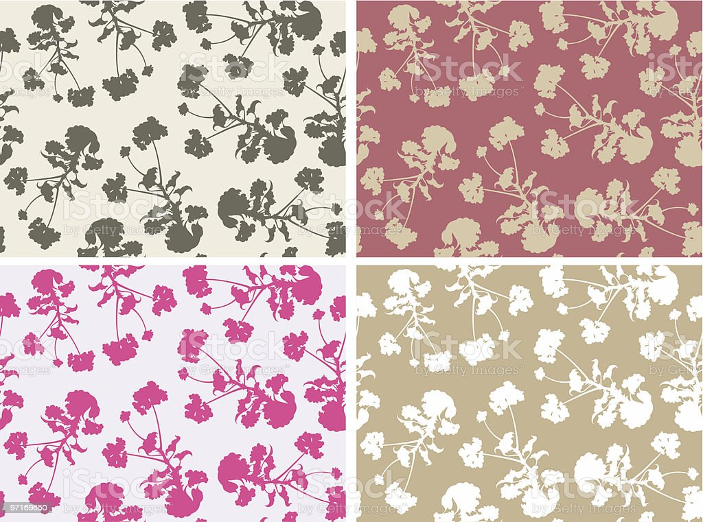 flower patterns royalty-free stock vector art
