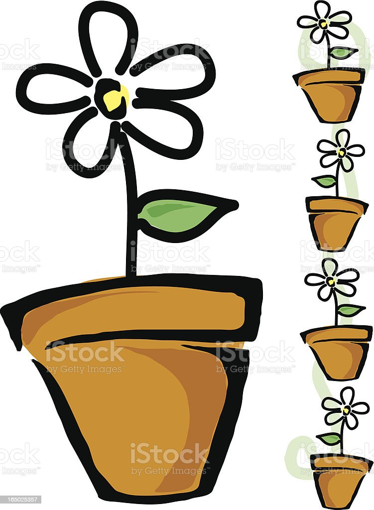 Flower Pot royalty-free stock vector art