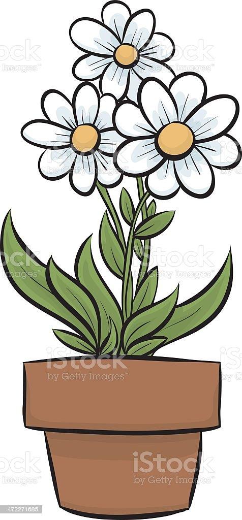 Flower Pot vector art illustration