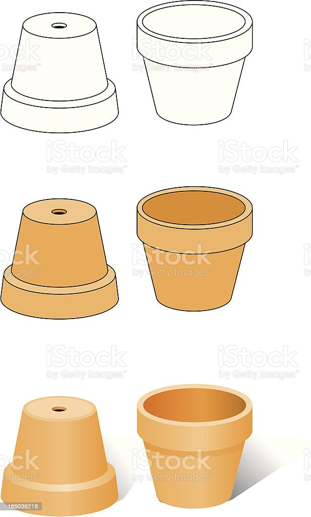 Flower pots royalty-free stock vector art
