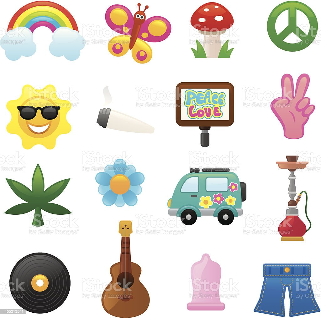 Flower power icons | smoso series royalty-free stock vector art