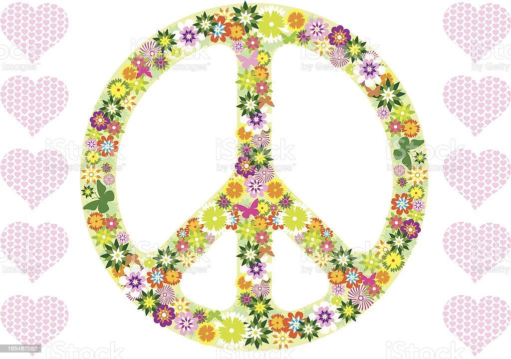 Flower power peace royalty-free stock vector art