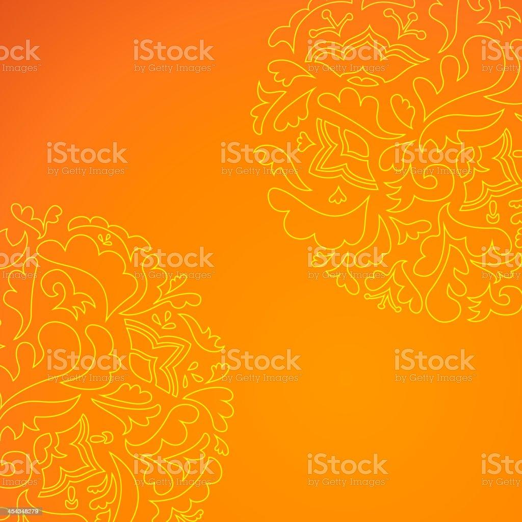 Flower round ornamental background royalty-free stock vector art