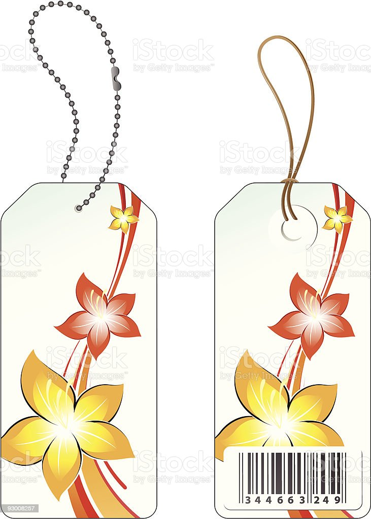 Flower sales price tag royalty-free stock vector art