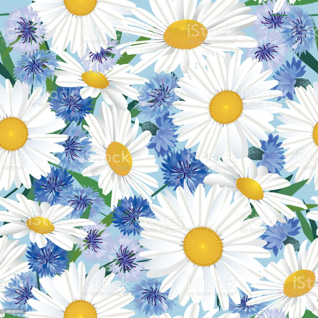 Flower seamless background. royalty-free stock vector art