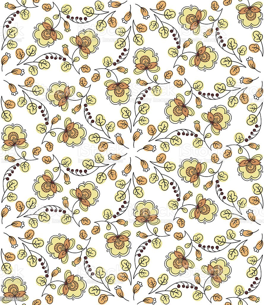 Flower seamless pattern royalty-free stock vector art