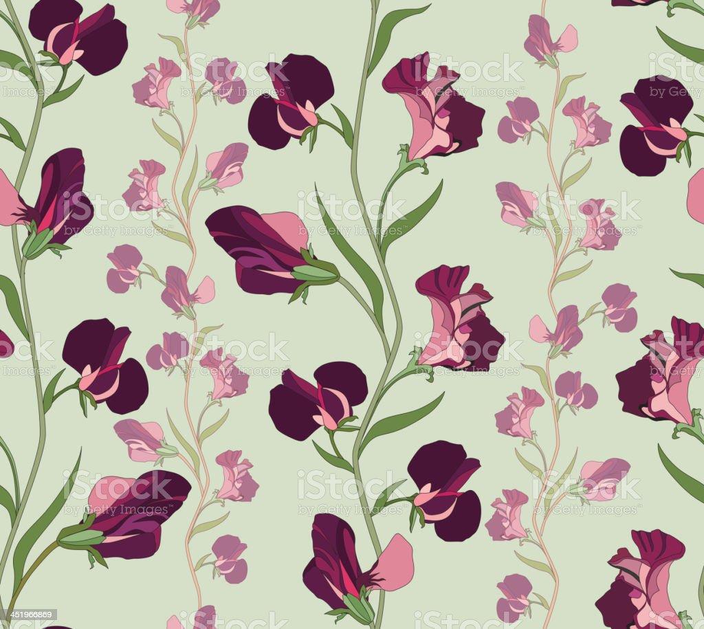 Flower seamless pattern royalty-free stock vector art