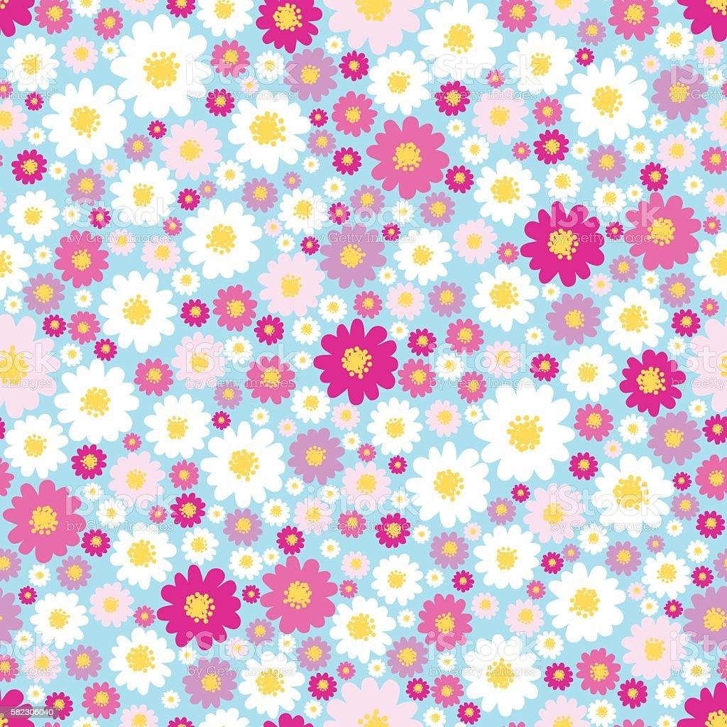Flower seamless pattern. vector art illustration