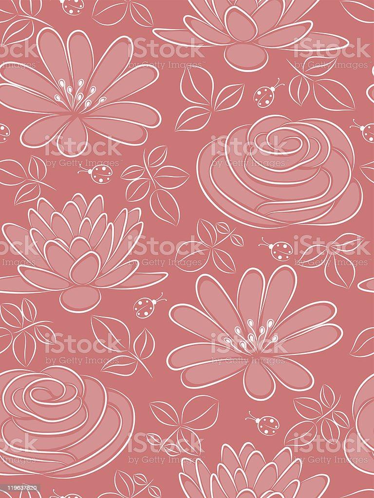 Flower seamless pattern. Vector illustration. royalty-free stock vector art