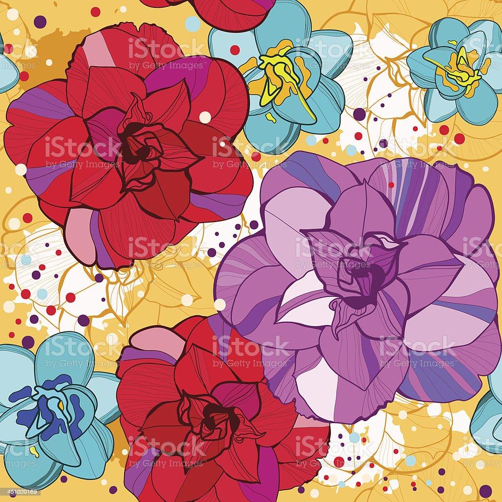 Flower seamless. Vector royalty-free stock vector art