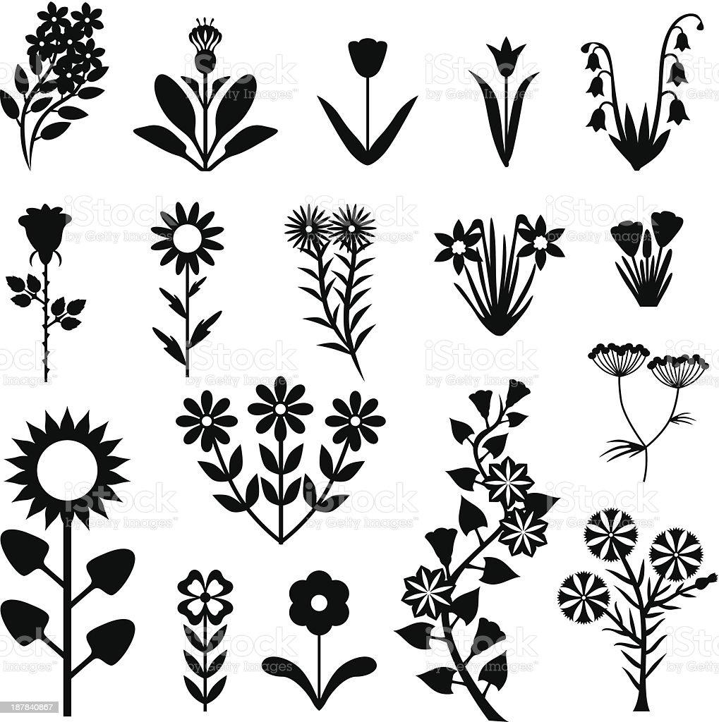 Flower set royalty-free stock vector art