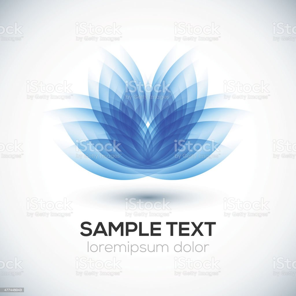 Flower shape. Lotus. vector art illustration