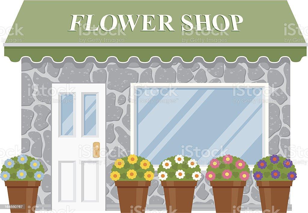 Flower Shop vector art illustration
