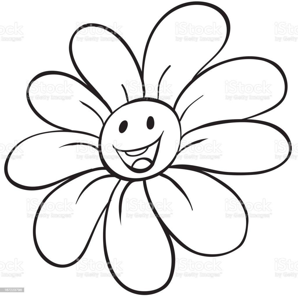 Flower sketch royalty-free stock vector art