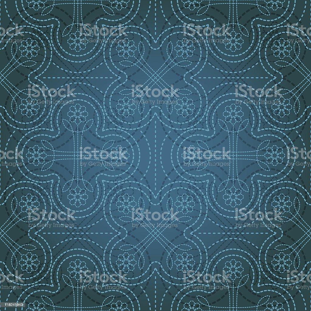 Flower Stitch (Seamless) royalty-free stock vector art