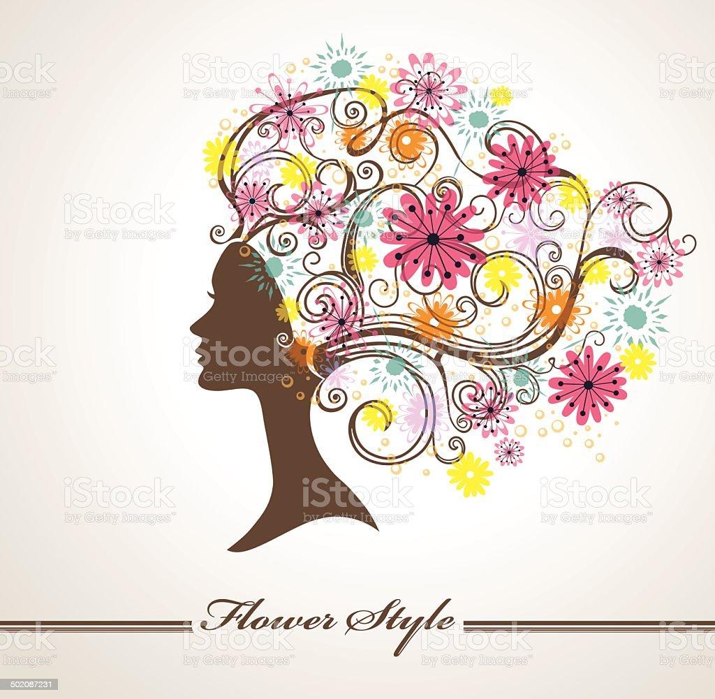 Flower Style. vector art illustration