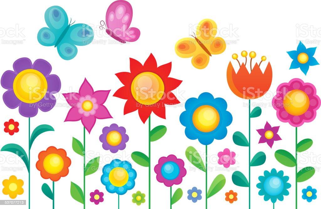 Flower topic image 1 vector art illustration