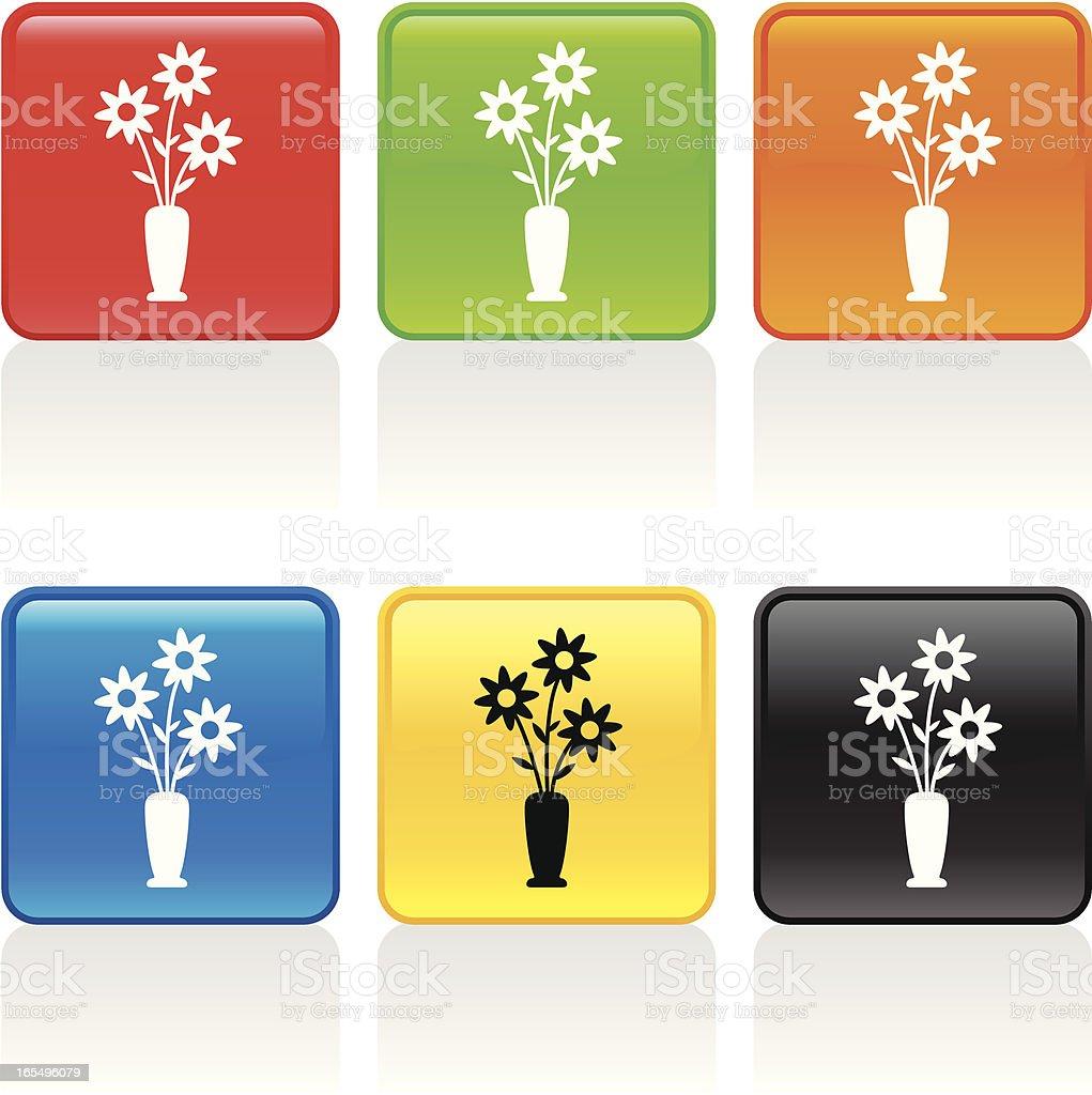 Flower Vase Icon vector art illustration