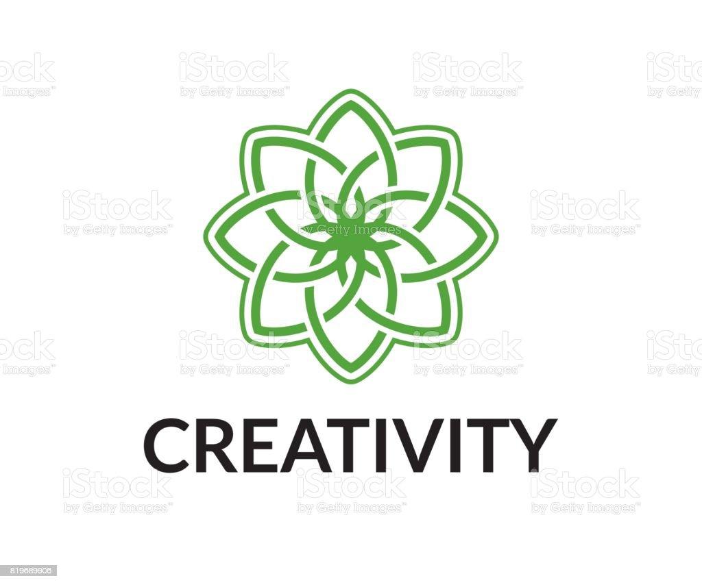 Flower vector icon vector art illustration