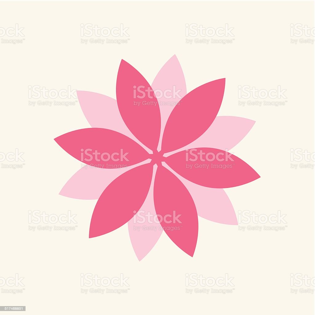 Flower vector art illustration