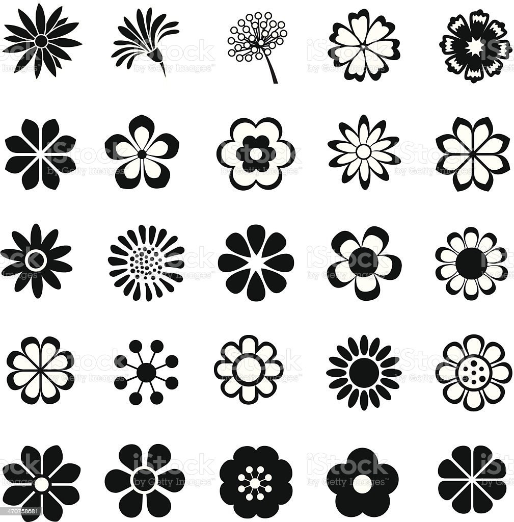 flower vector set vector art illustration