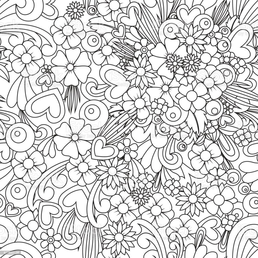 Zen coloring flowers - Zen Coloring Wallpaper 1 Credit