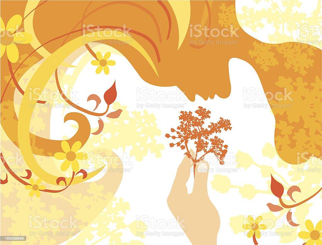 Flower woman royalty-free stock vector art
