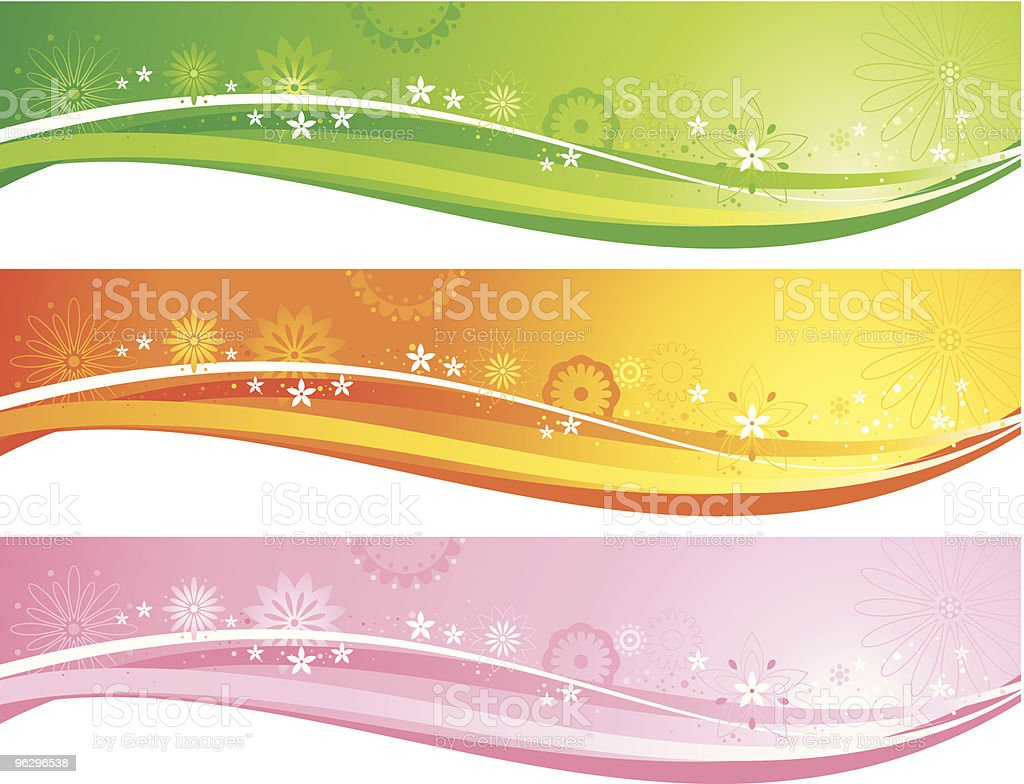 flower_banners royalty-free stock vector art