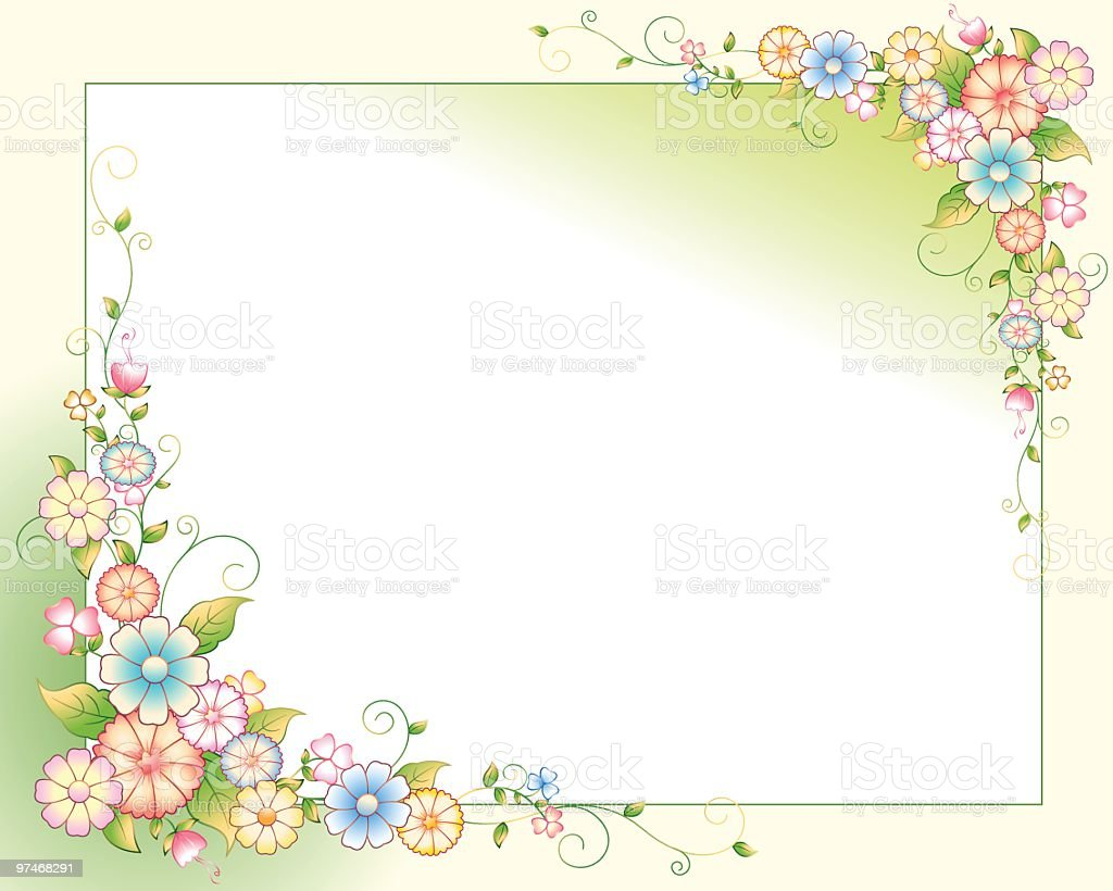 Flower_Filigree vector art illustration