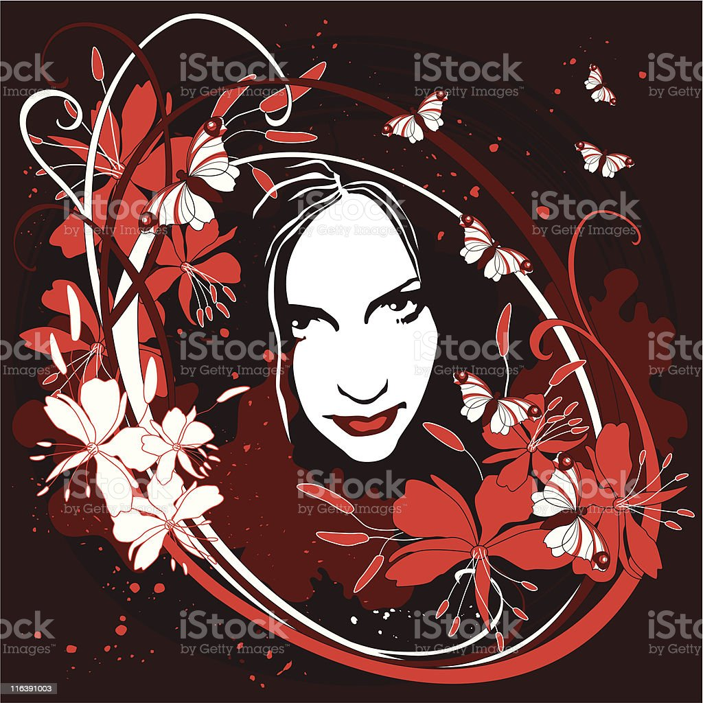 Flowering girl royalty-free stock vector art