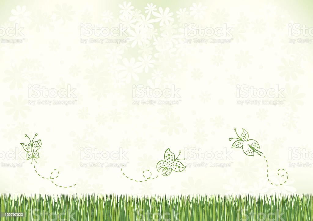 flowers and nature background illustration royalty-free stock vector art