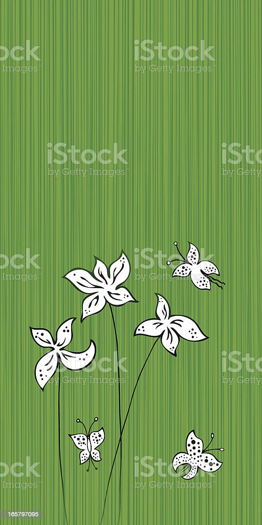 flowers and nature background royalty-free stock vector art