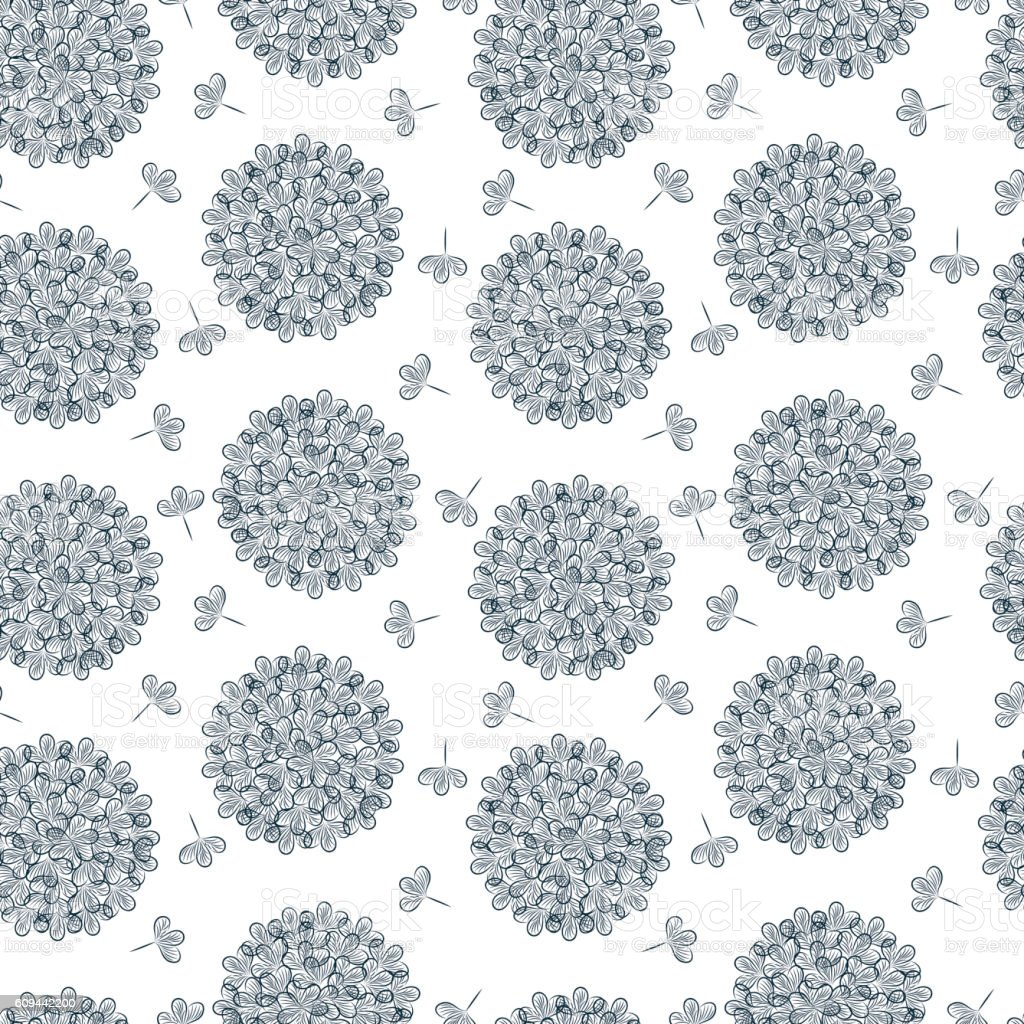 Flowers background. Floral seamless pattern. vector art illustration