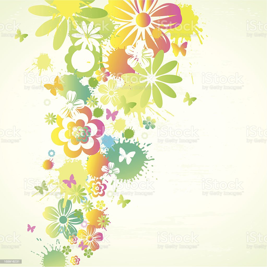 Flowers Background royalty-free stock vector art