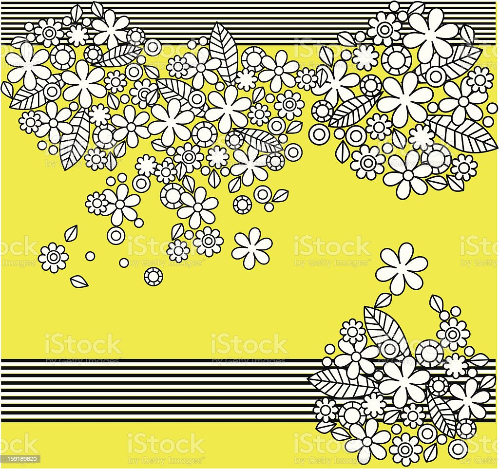 flowers bouquet summer background royalty-free stock vector art