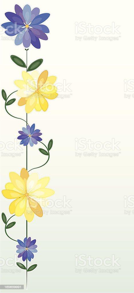 Blumen: Chrysanthemums Hintergrund Grenze Design Lizenzfreies vektor illustration