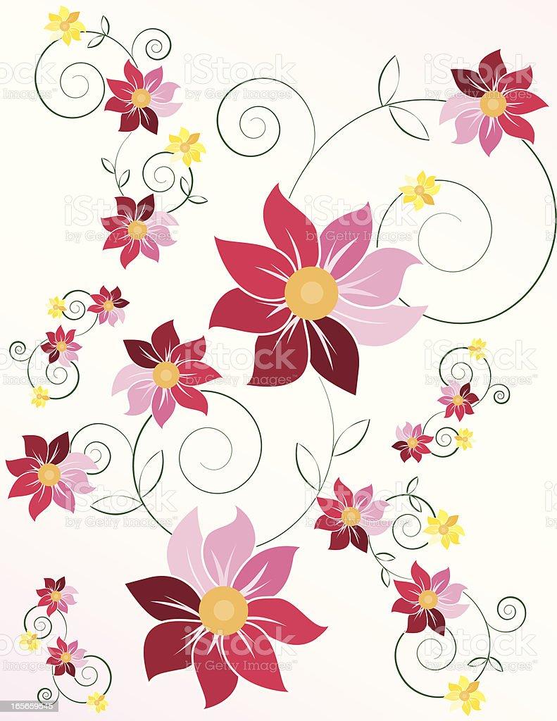 Blumen: Chrysanthemums Hintergrund Design Lizenzfreies vektor illustration