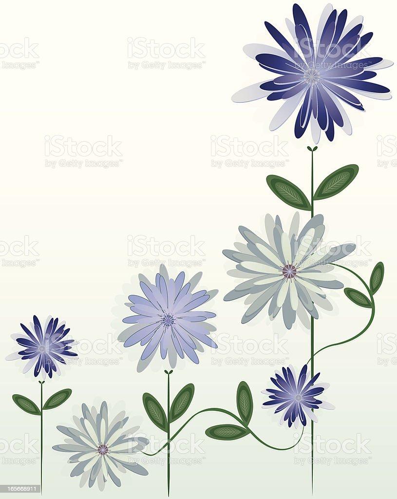 Blumen: Chrysanthemums Ecke Design Lizenzfreies vektor illustration