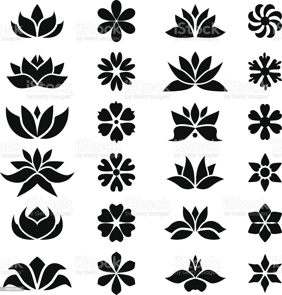 Flower's collection vector art illustration