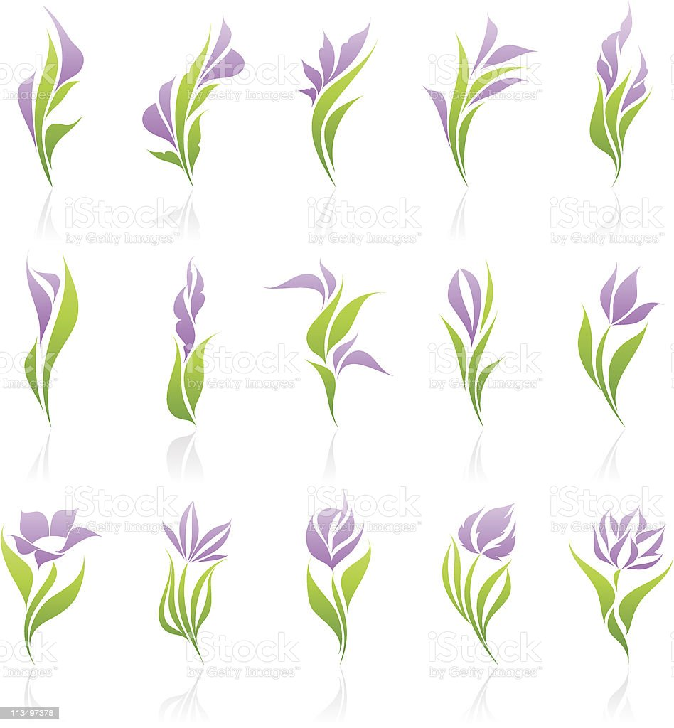 Flowers. Elements for design. vector art illustration