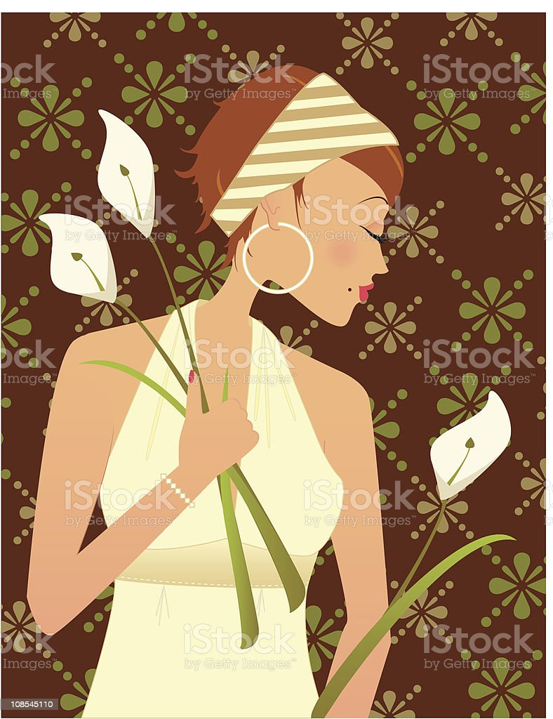 Flowers for you royalty-free stock vector art