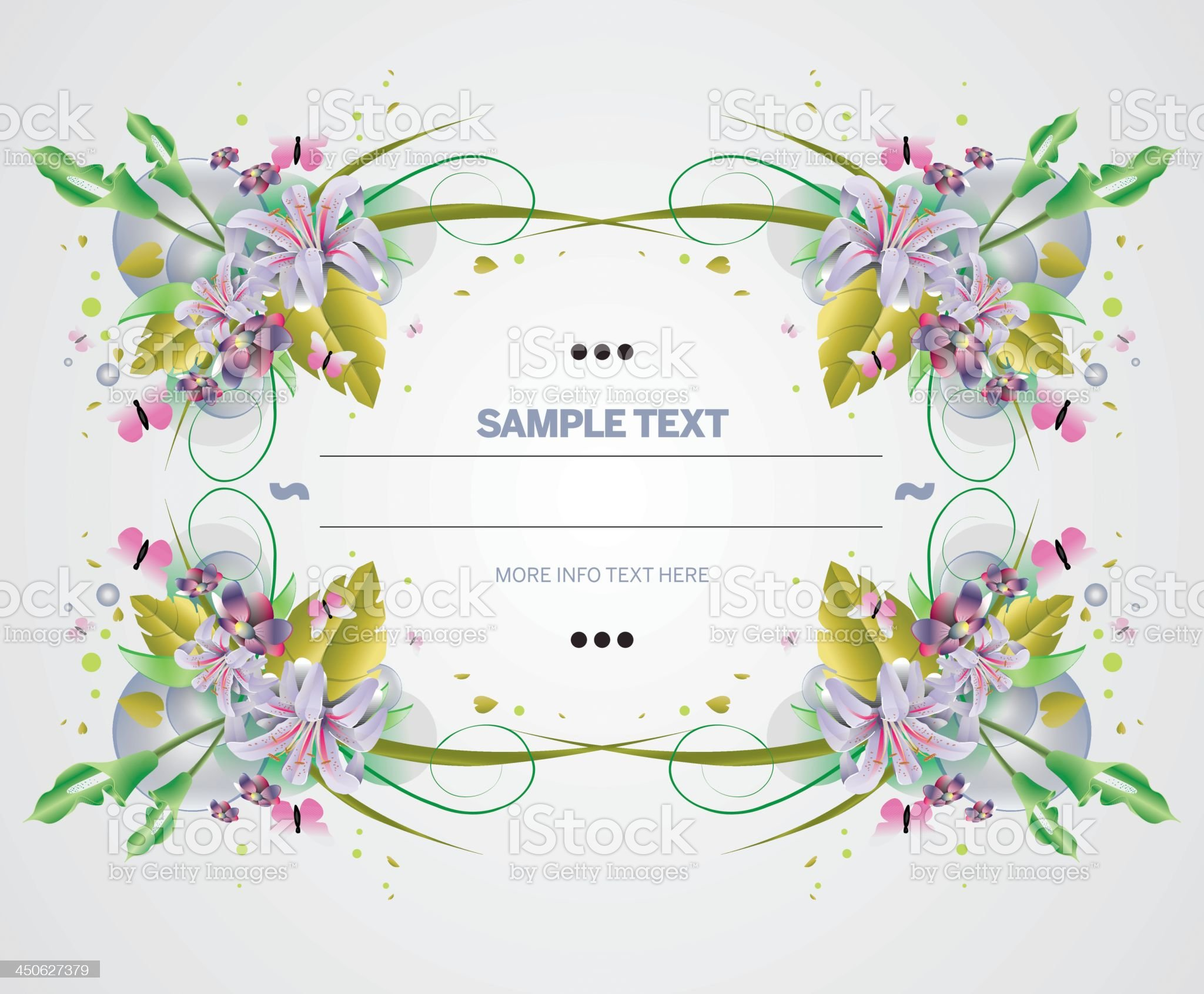Flowers frame composition royalty-free stock vector art