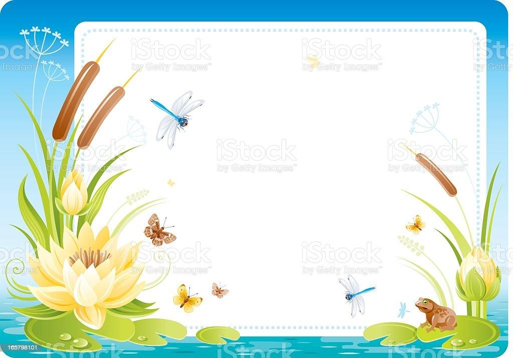Flowers frame royalty-free stock vector art