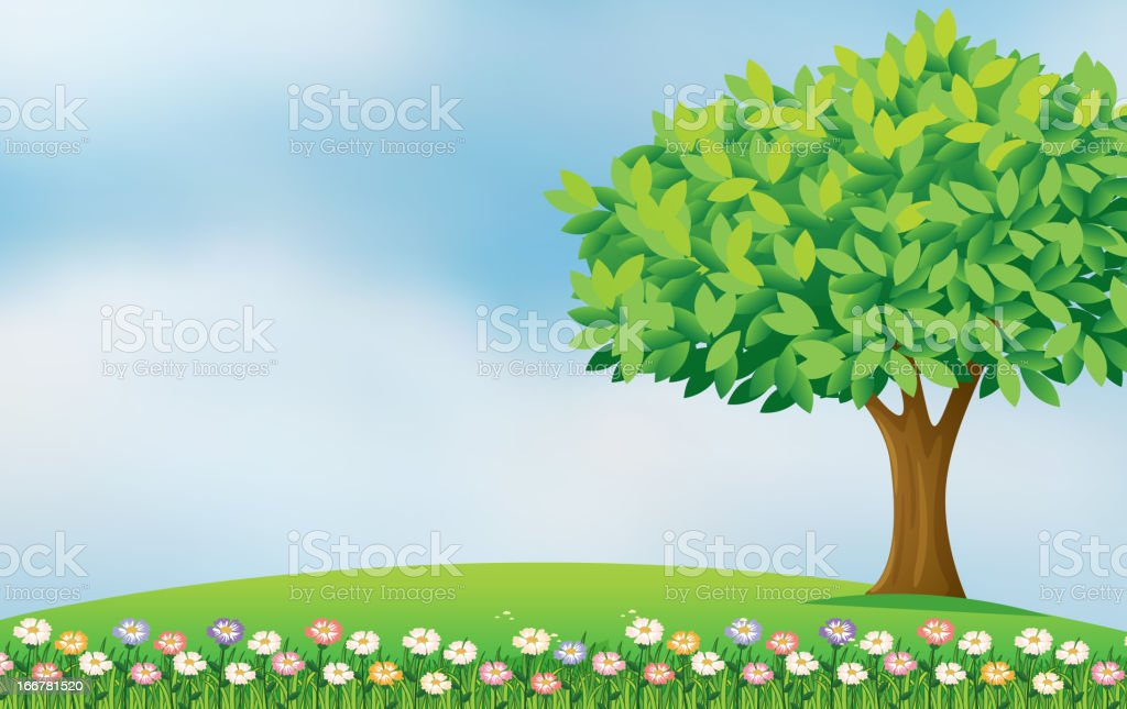 Flowers in the hill royalty-free stock vector art