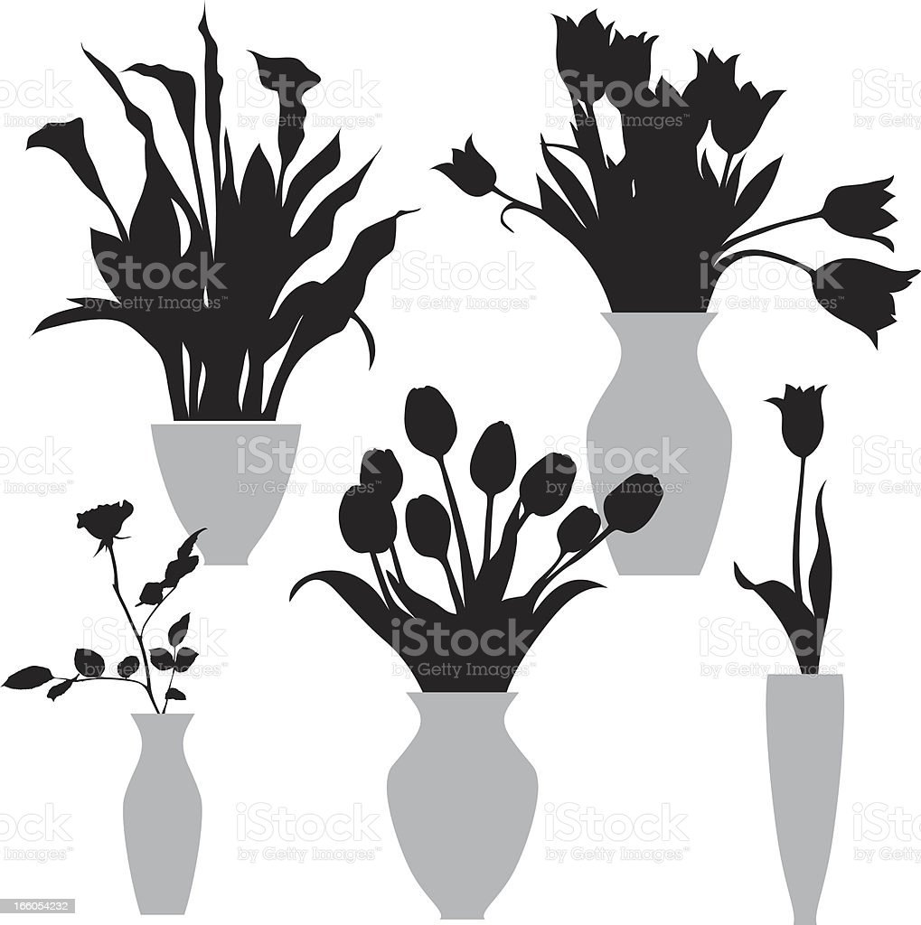 flowers in the vase royalty-free stock vector art