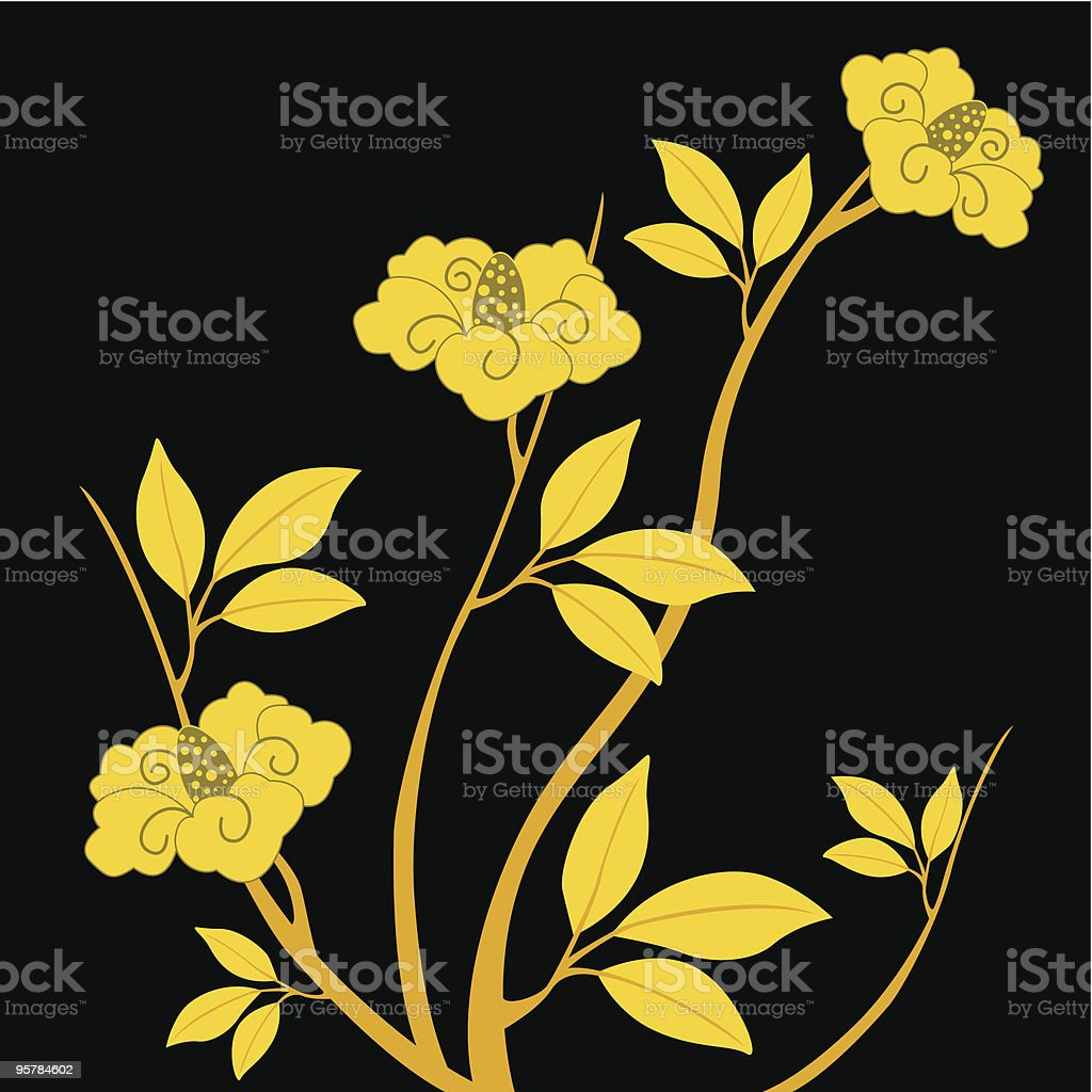 flowers of cherry on the branch royalty-free stock vector art