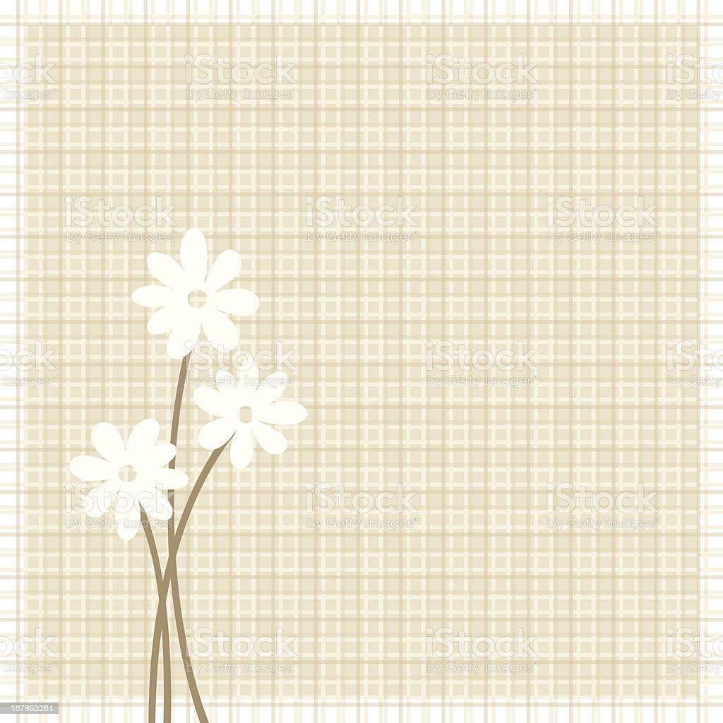 Flowers on beige sacking background. Eps-10 vector illustration. royalty-free stock vector art